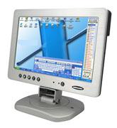 "10.2"" TFT 10TSV LCD touchscreen w/one VGA input/2RCA video input"