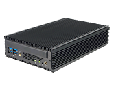 *Mini Fanless PC LG-P695F, Intel i7 9th gen. DVI+ DP ports, Optn 12V-48V, remote power